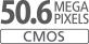 Sensor CMOS de tamanho APS-C de 50,6 megapixels